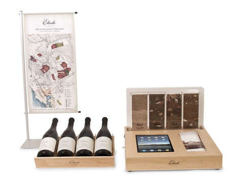 Wine Discovery Units - Etude's Countertop Display Promotes Discovery of a Wine's Origins