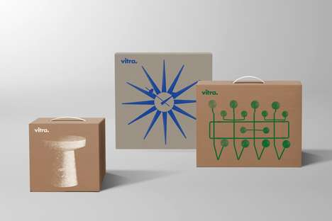 Minimal Furniture Packaging - Vitra Furniture Has Debuted Simple Packaging for Its Dynamic Designs