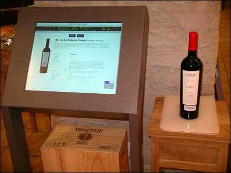 RFID Wine Displays - Vistasys' Information Kiosk Scans Wine Bottles to Reveal Product Facts