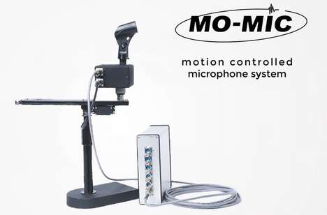 Motion-Controlling Microphones - The 'Mo-Mic' Microphone System Allows for Remotely Angling