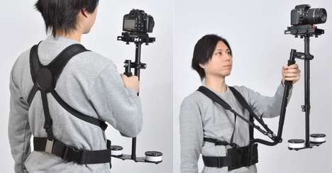Secure Wearable Tripods - The Camera Stabilizer Harness Strap Prevents Fatigue During Recording