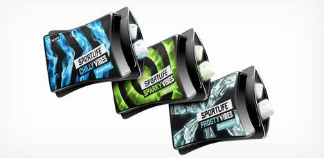 Squeezable Gum Packets - Sportlife Vibes' Chewing Gum is Packaged in a Squeeze Pack