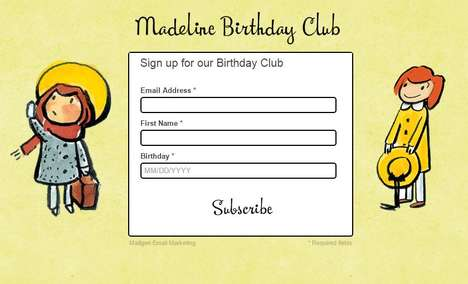 Literary Birthday Memberships - The Madeline Birthday Club Sends Subscribers Products and Perks