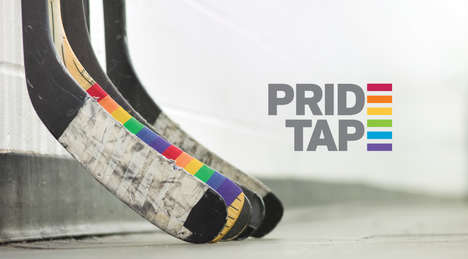 LGBT-Supporting Hockey Tape - This Pride Tape Shows Support On and Off the Ice for Athletes