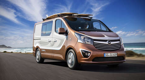 Surfer-Specific Vans - The Opel Vivaro Surf Van is Built for the Beach Lifestyle