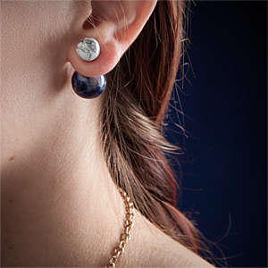 Celestial Orbit Earrings - These Silver Studs Showcase the Moon's Gravitational Pull to the Earth