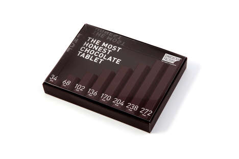 Calorie-Counting Chocolates - This Graph-Shaped Chocolate Snack Reveals Calories Per Serving