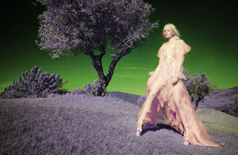 Psychedelic Landscape Editorials - This Vogue Italia Exclusive Boasts Solve Sundsbo Photography