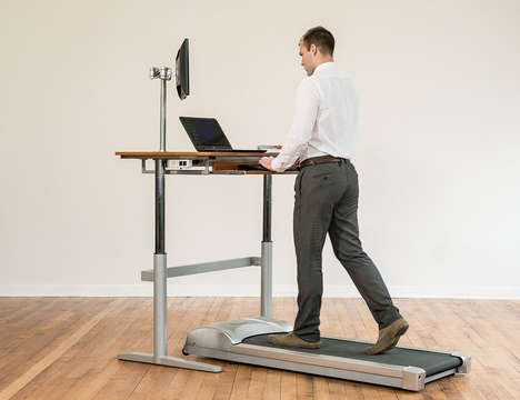 Multifunctional Workout Desks - The Rebel Treadmill Desk Provides a Dual Experience for Workers