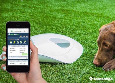 Automated Pet Care Devices - The 'Feed and Go' Pet Food Dispenser Can Schedule Automatic Feedings