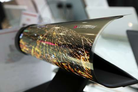 Flexible Paper-Thin Displays (UPDATE) - The Bendable LG Display Made Its Debut at Ces 2016