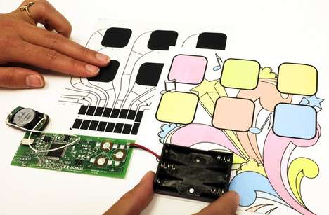 Interactive Paper Kits - This Set of Stickers and Electronics Create Interactive Paper Technology