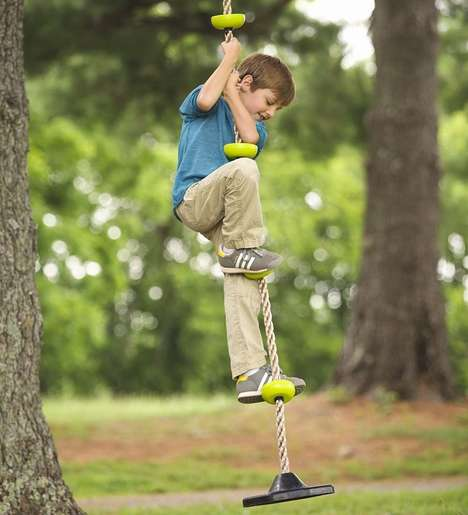 Kids Crossfit Equipment - The HearthSong Rope Climber Lets Kids Train and Play at the Same Time