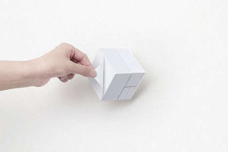Three-Sided Note Cubes - The Block Memo Offers a Brick with Different Sticky Pages on Each Side
