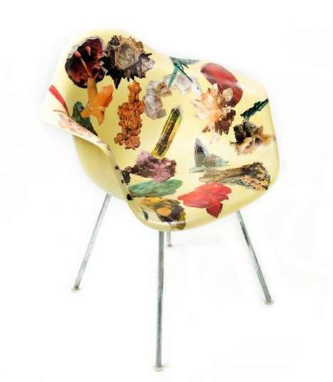 Collaged Decoupage Chairs - These Fiberglass Seats are Both Furniture and Art Pieces