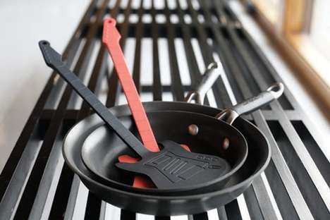 Artistic Guitar Spatulas - This Cooking Flipper is Shaped Creatively as an Electric Guitar