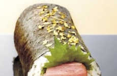 Gigantic Luxe Sushi Rolls - This Honmaguro Roll Features Edible Golden Flakes and a $200 Price Tag