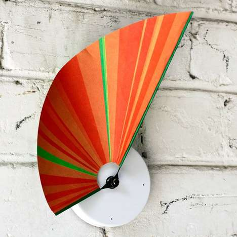 Fanned Paper Clocks - The Manifold Clock Features an Abstract Art Aesthetic