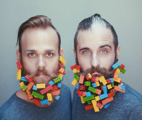 Embellished Beard Photography - The Gay Beards Instagram Features Images of Decorated Facial Hair