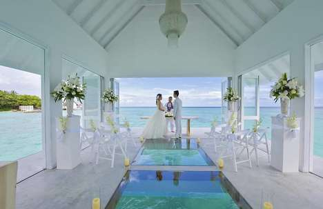 Floating Wedding Pavilions - The Four Seasons Maldives Offers an Exotic Overwater Marriage Chapel