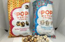 Candied Cookie Popcorn - The Pop Works Cookies & Cream Flavor Offers a Lighter Dessert Alternative