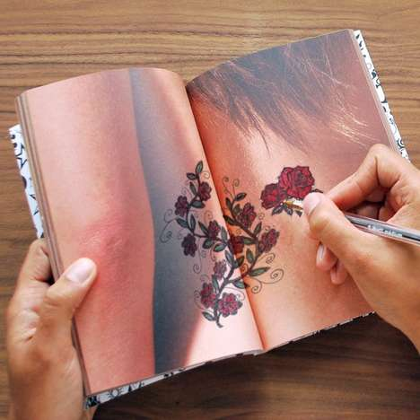 Trial Tattoo Journals - The Tattoo Doodle Notebook Lets Consumers Draw on Body Parts to Test Ideas