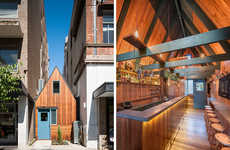 Squished Rustic Restaurants - The Pink Moon Saloon was Built Between Two Existing Buildings