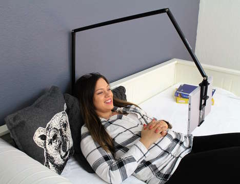 Lamp-Inspired Tablet Holders - The 'myHangover' Tablet Mount Holder Can be Used in Many Ways