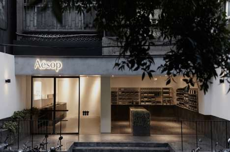 Shrouded Skincare Shops - The Second Aesop Taipei Shop is Located in the Hip Neighborhood of Daan