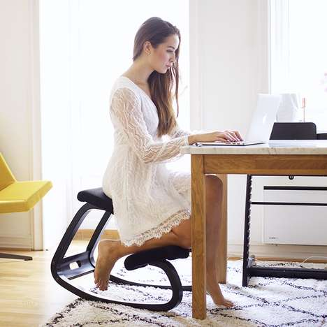 Comfy Ergonomic Seating - The 'Variable Balans' Ergonomic Desk Chair Works with the Body's Curves