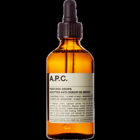 Odor-Extracting Bathroom Scents - The Aesop x A.P.C Post-Poo Drops Leave Behind a Fresh Citrus Aroma