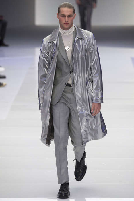 Futuristic Sci-Fi Menswear - The Versace Menswear Fall Collection Promotes Space Camp Style