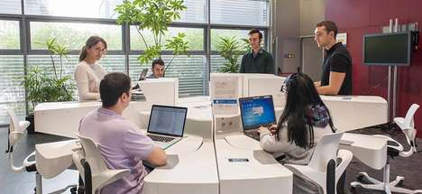 Ergonomic Team Desks - The 'Ergon' Space-Saving Desk Adapts to the Needs of Business Teams