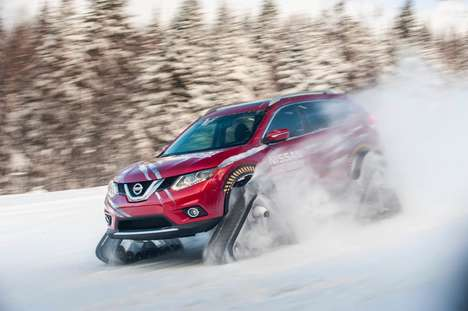 Rugged Snow Vehicles - The Nissan Rogue Warrior Braves Winter Using a Snow Track Driving System