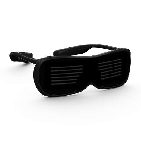 Smart Message-Displaying Eyewear - The CHEMION LED Glasses Let Wearers Cheer with Displayed Text