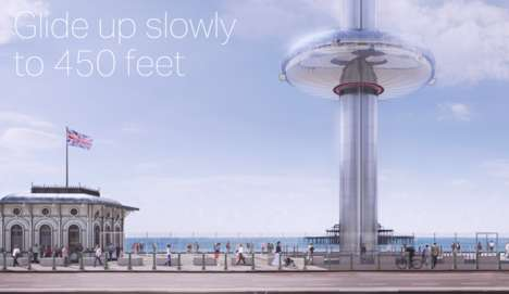 Vertical Cable Cars - The 'British Airways i360' Will Be the UK's Highest Observation Tower