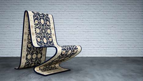 Flying Carpet Seating Solutions - The 'Carpet Chair' from Mousarris Creates the Illusion of Magic