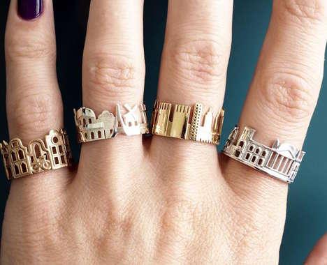 Cityscape-Inspired Rings