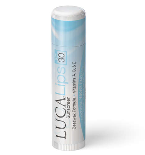 Vitamin-Enriched Sunscreens - Luca Lips Sunscreen Lip Balm Uses a Beeswax Base with Added Vitamins