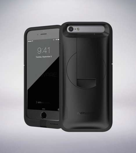 Hand Crank Smartphone Chargers - The Ampware Phone Case Allows Users to Charge Their Phone by Hand