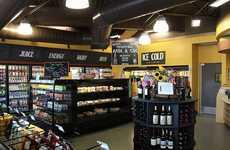 Luxury Convenience Stores - The 5 Points Market Convenient Store Design Has Upscale Features