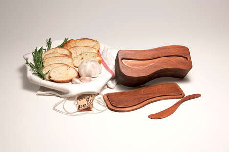 Sustainable Southern Cutlery - Be Home Butter Knife and Dish is an Admirable Student Project