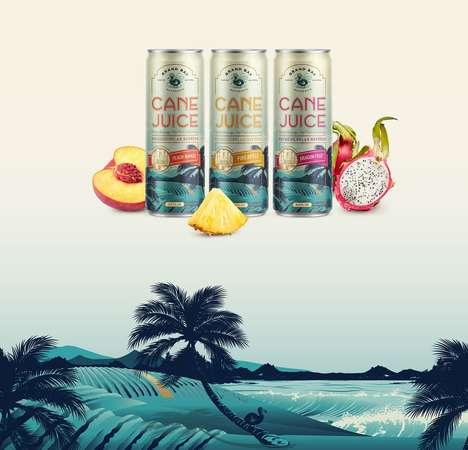 Cane Juice Cans - Grand Bay's Flavored Sugarcane Juice Reminds of a Tropical Vacation