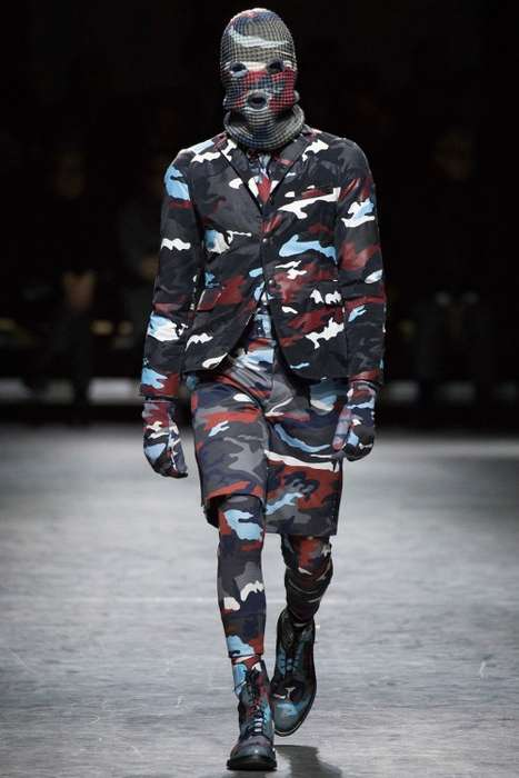 Camouflage-Covered Menswear - The Moncler Gamme Bleu Fall/Winter Collection Boasts Incognito Style