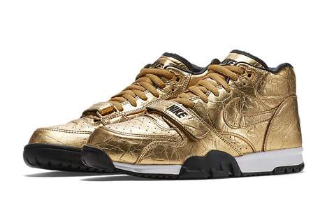 Football Championship Sneakers - Nike Created a Line of Gold Sneakers for the Super Bowl 50