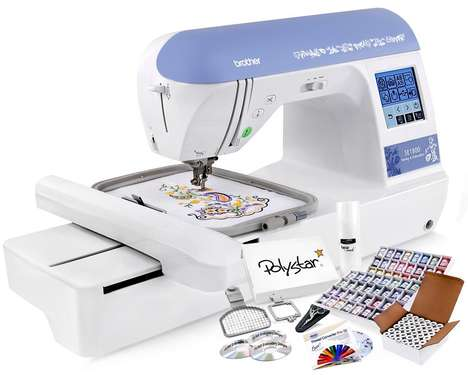 Automated Sewing Machines - The Brother SE1800 Sewing Embroidery Machine Can be Set to Sew Anything