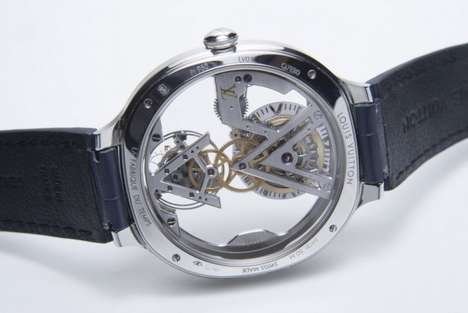 Skeletal Couture Watches - The New Louis Vuitton Watch Features a Tastefully Transparent Watch Face