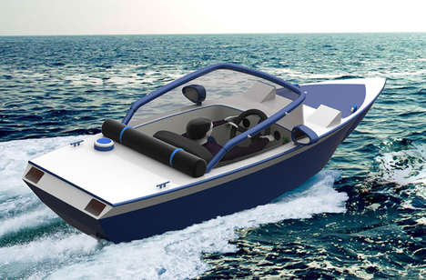 Single Person Watercrafts - The 'Wanderer' Water Transport System is Efficient for Solo Boaters
