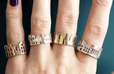 These Metropolis-Honoring Rings Feature Panoramic Views of Iconic Cities