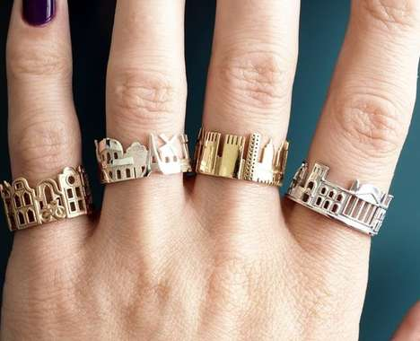Cityscape Metallic Rings